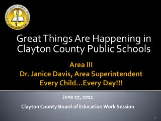 Incredible Things Are Happening in Clayton County Public Schools