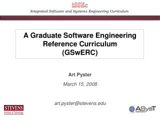 Incorporated Software and Systems Engineering Curriculum