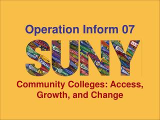 Junior colleges: Access, Growth, and Change
