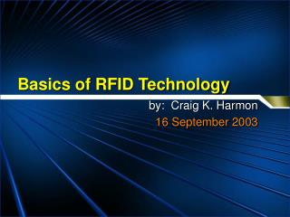 Nuts and bolts of RFID Technology