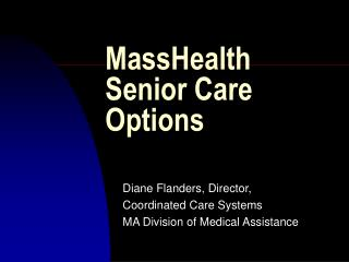 MassHealth Senior Care Options