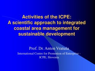 Exercises of the ICPE: An exploratory way to deal with incorporated ...