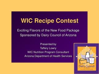 WIC Recipe Contest