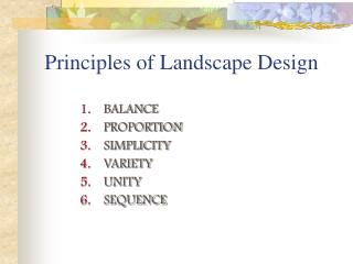 Standards of Landscape Design