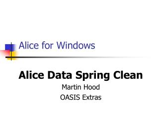 Alice for Windows