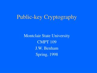 Open key Cryptography