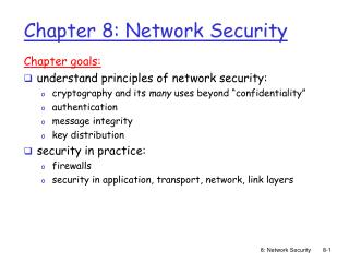 Section 8: Network Security
