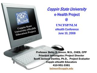 Coppin eHealth Project Goals