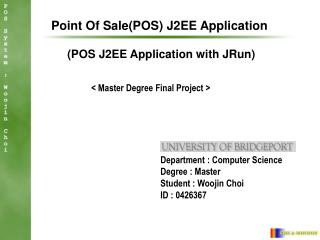 Purpose Of SalePOS J2EE Application