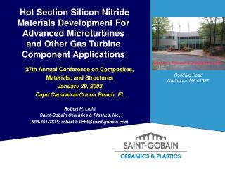 Hot Section Materials Development For Advanced Microturbines Program