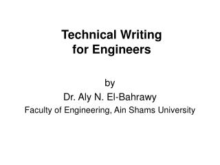 Specialized Writing for Engineers