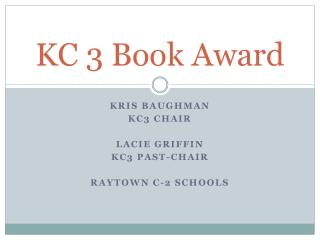 KC 3 Book Award