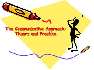 The Communicative Approach: Theory and Practice