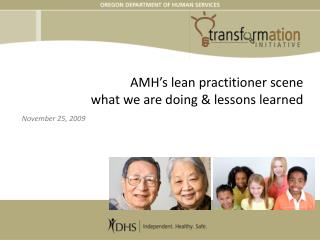 AMH s incline professional scene what we are doing lessons learned