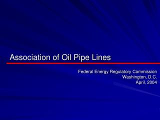 Relationship of Oil Pipe Lines
