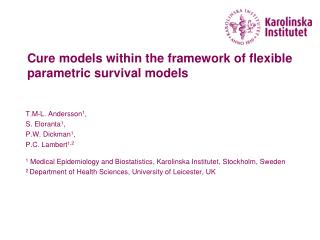 Cure models inside of the structure of adaptable parametric survival models