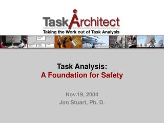 Undertaking Analysis: A Foundation for Safety
