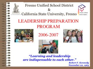 Fresno Unified School District California State University ...