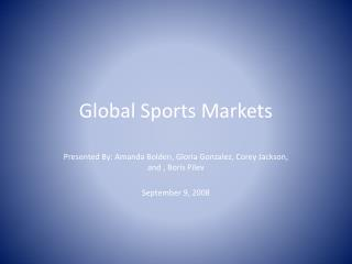 Worldwide Sports Markets