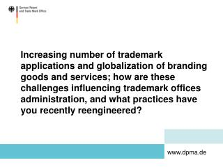 Expanding number of trademark applications and globalization of ...