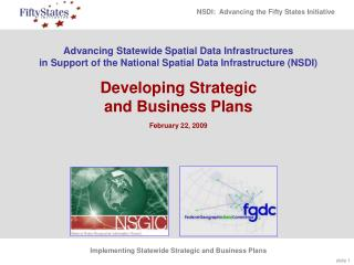 Progressing Statewide Spatial Data Infrastructures in Support of ...