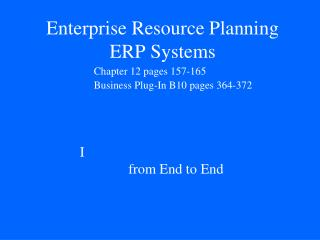 Endeavor Resource Planning ERP Systems