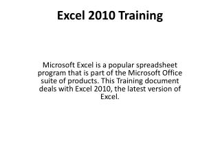 Exceed expectations 2010 Training