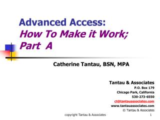 Propelled Access: How To Make it Work Part A