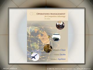 Generation and Operations Management: Manufacturing and Services