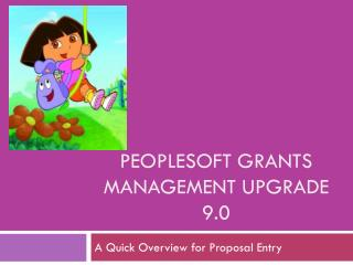 PeopleSoft Grants administration Upgrade 9.0