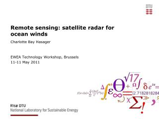 Remote detecting: satellite radar for sea winds