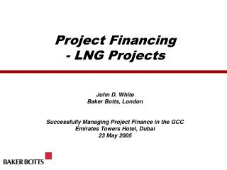 Venture Financing - LNG Projects
