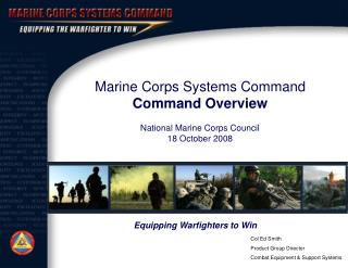 Part of Marine Corps Systems Command