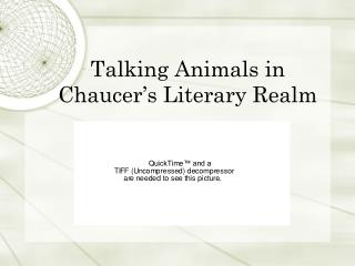 Talking Animals in Chaucer