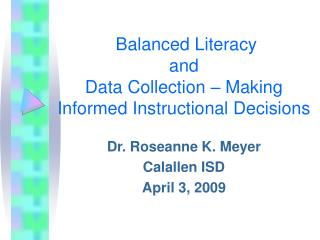 Adjusted Literacy and Data Collection