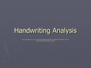 Penmanship Analysis