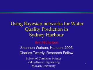 Utilizing Bayesian systems for Water Quality Prediction in Sydney Harbor