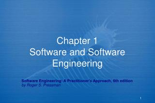 Section 1 Software and Software Engineering