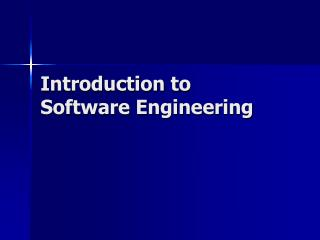Prologue to Software Engineering