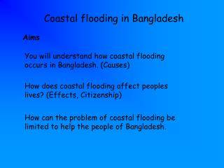 Waterfront flooding - Bangladesh - GeoInteractive Geography Resources ...