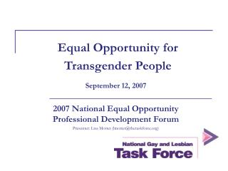 Rise to Opportunity for Transgender People