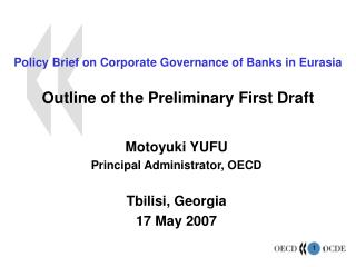 Approach Brief on Corporate Governance of Banks in Eurasia