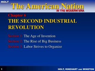 Section 6 THE SECOND INDUSTRIAL REVOLUTION