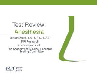 Test Review: Anesthesia