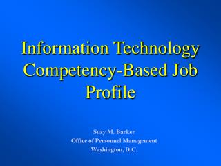 Data Technology Competency-Based Job Profile