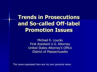 Patterns in Prosecutions thus canceled name Promotion Issues