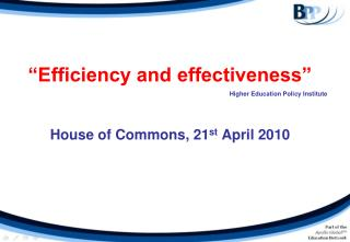 Proficiency and adequacy House of Commons, 21st April 2010