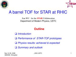 A barrel TOF for STAR at RHIC