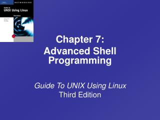 Manual for UNIX Using Linux Third Edition