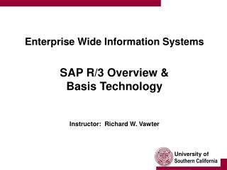 Endeavor Wide Information Systems SAP R